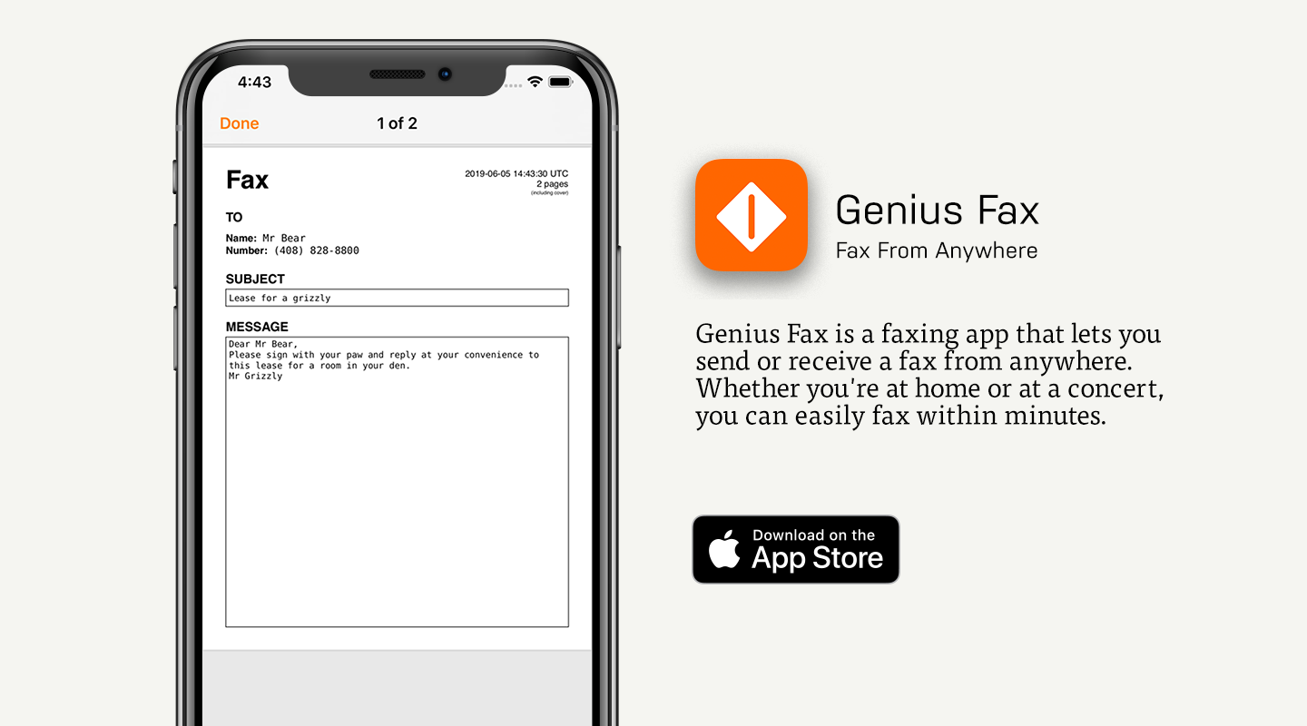 Preview of Genius Fax