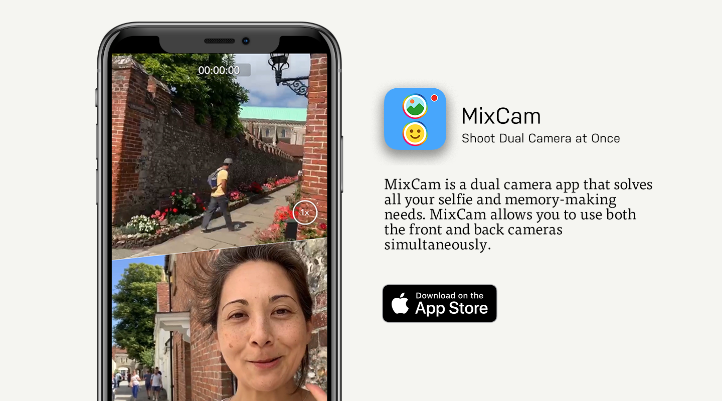 App Store preview of MixCam