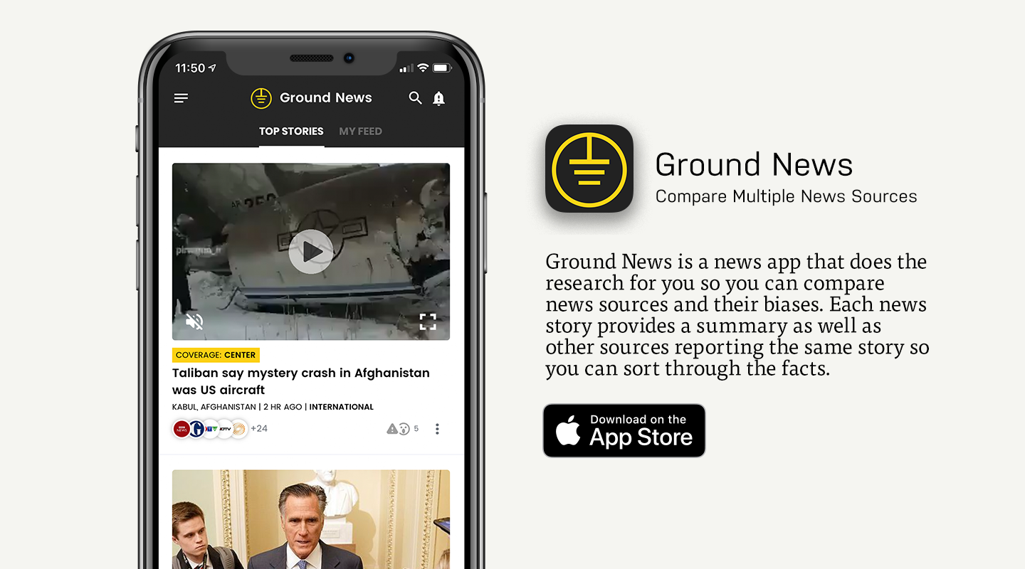 App Store preview of Ground News app