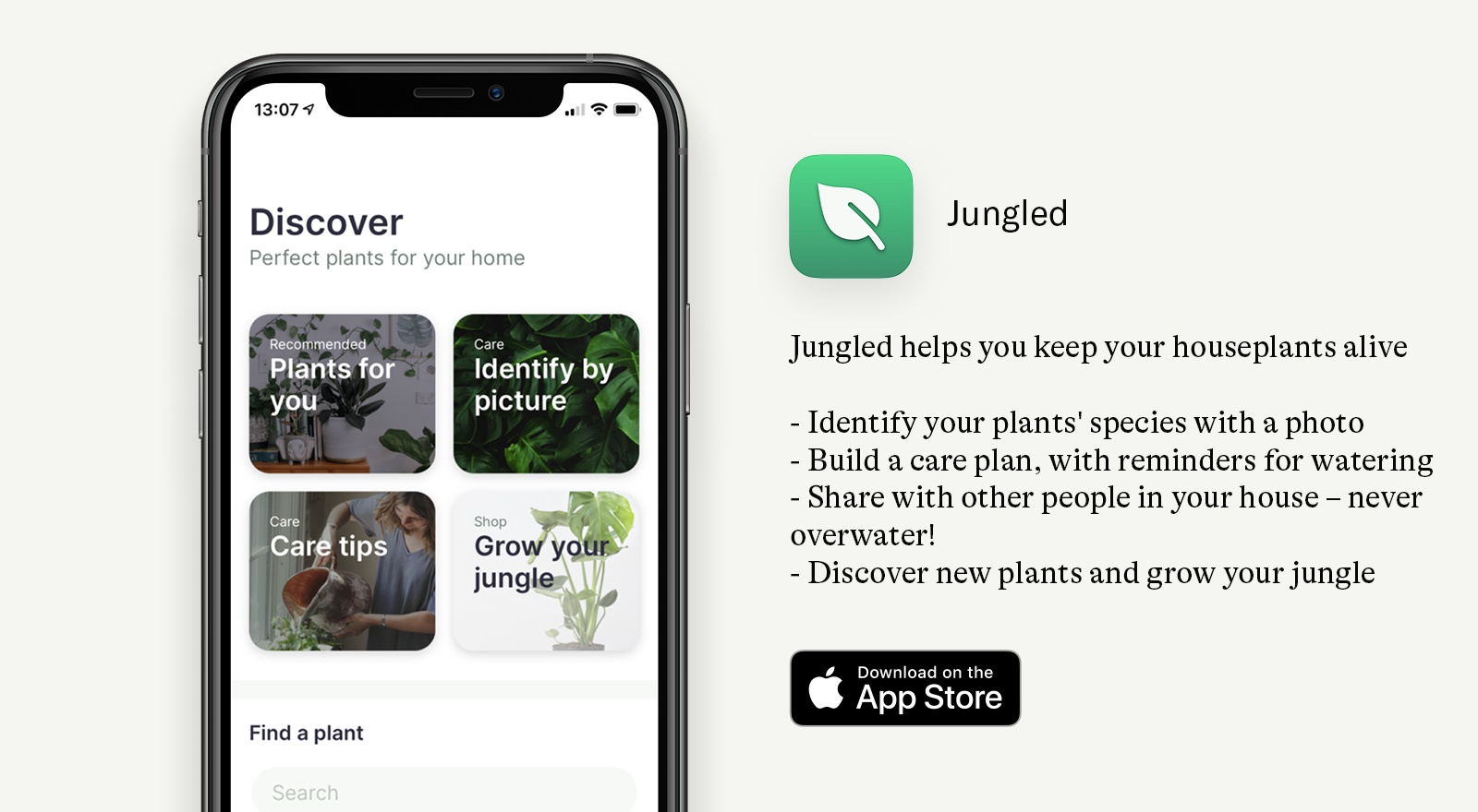 jungled app icon and screen