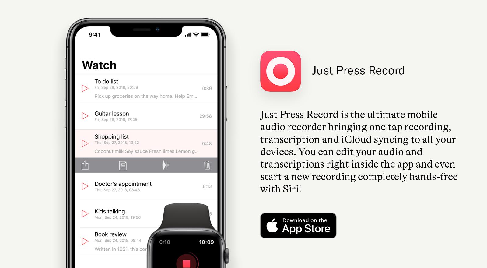 just press record app download