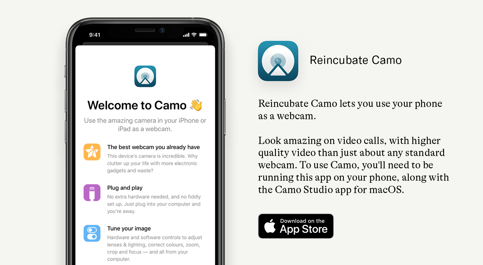 Reincubate Camo App icon