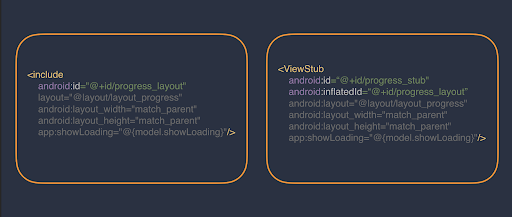 Replacing <include> with <ViewStub>