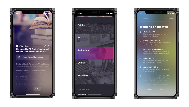 river app screens