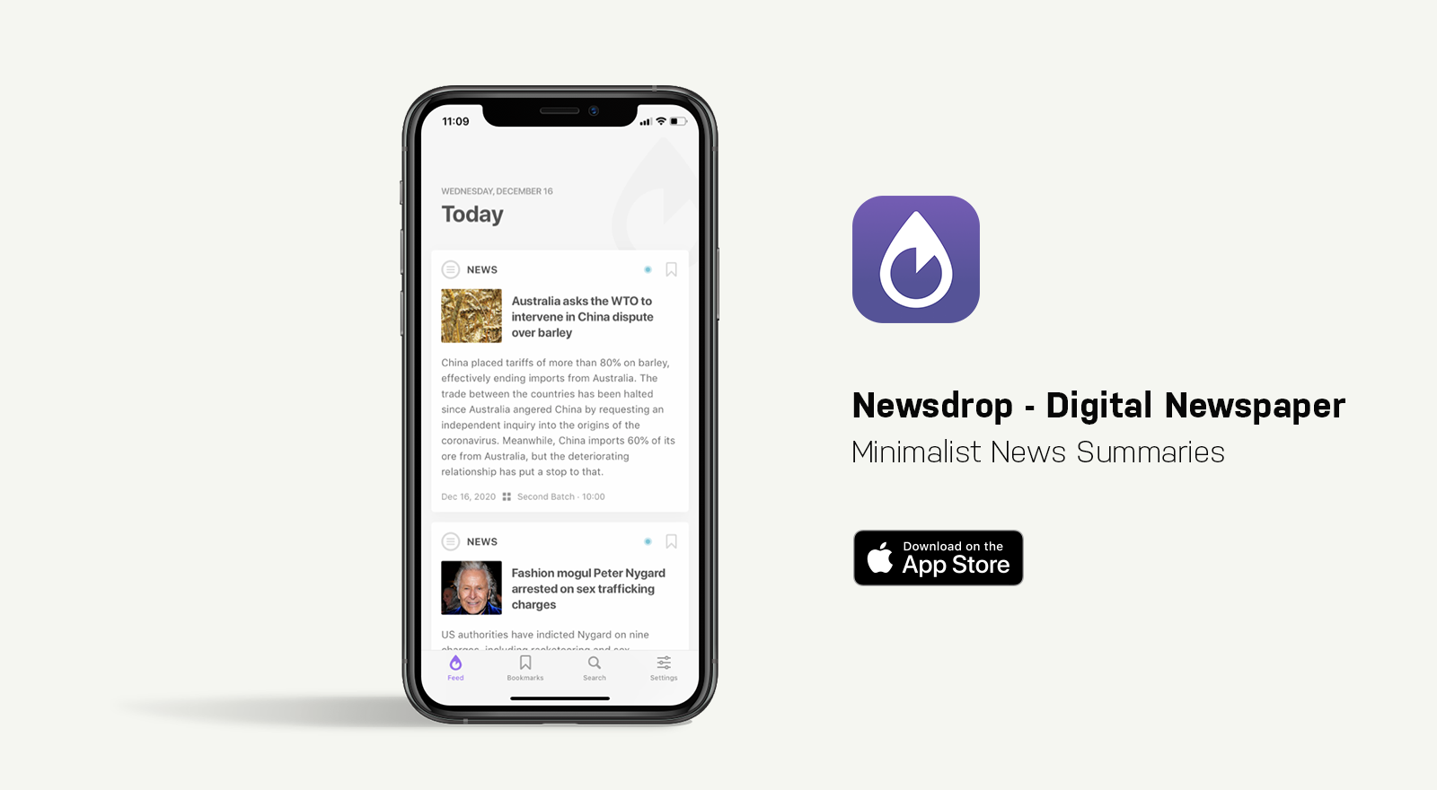 newsdrop app