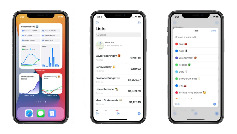 spendstack app screens