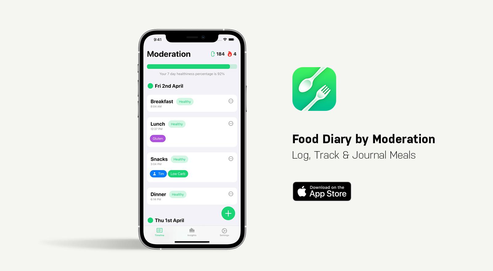 food diary moderator app