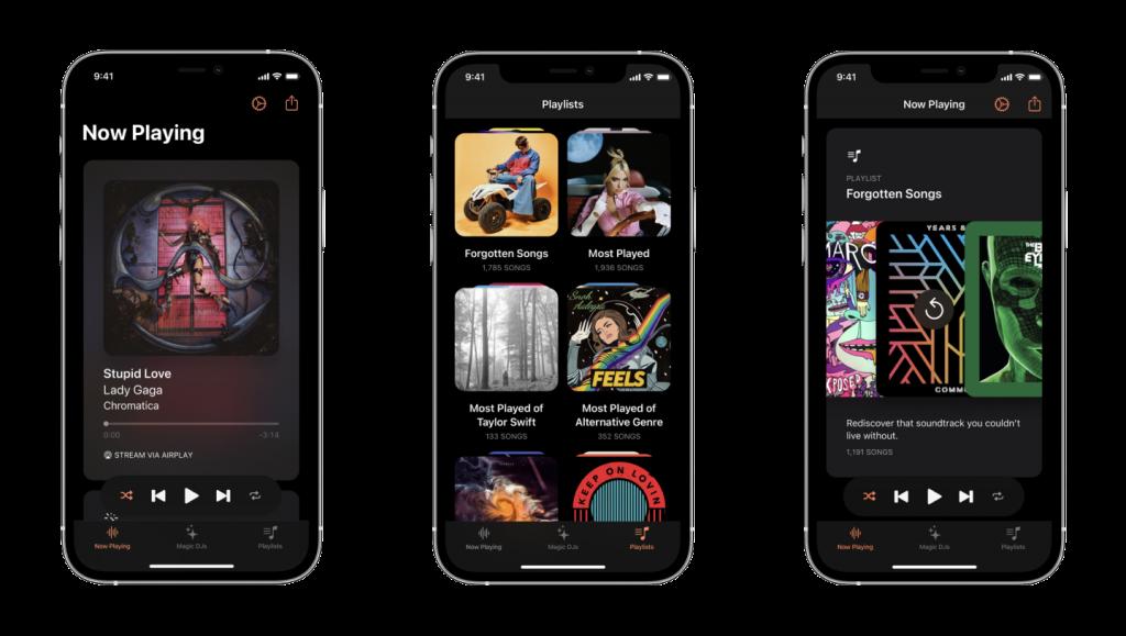 next app screens