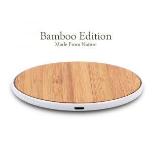 surge disk bamboo wireless charger for android